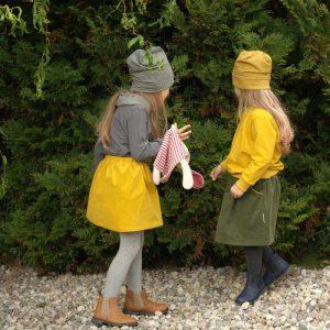 Cordröcke für Mädchen in senfgelb und tannengrün
