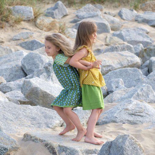 Sommerkleider aus Baumwolle grün