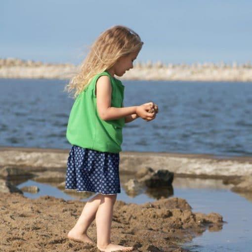 Sommerrock aus Buamwolle und ärmellose Tinika aus Baumwolljersey für mädchen