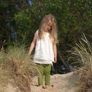 ärmellose Tunika in naturweiss