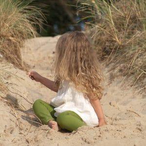 ärmellose Sommertunika für Mädchen in naturwenaturweiss