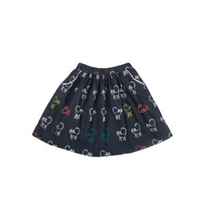 Sommerrock für Mädchen aus Biobaumwolle dunkelblau