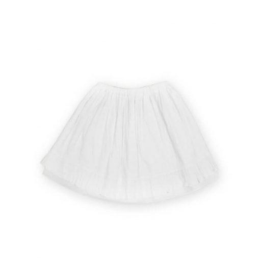 weisser Sommerrock für Mädchen aus feiner Baumwolle