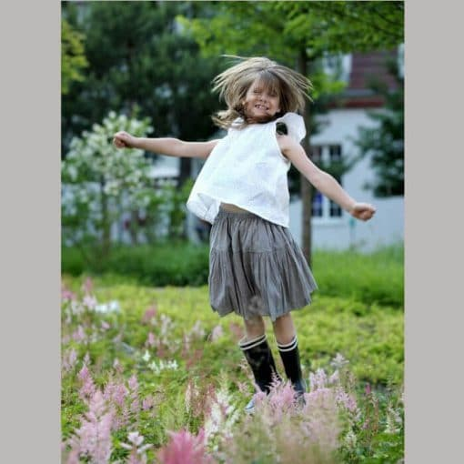 Sommerrock für Mädchen hellgrau