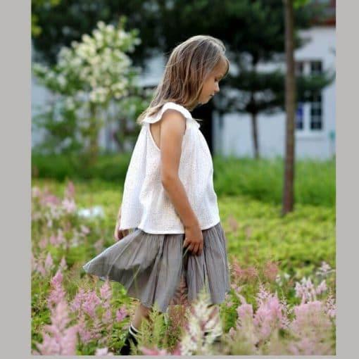Sommerrock für Mädchen aus Baumwolle