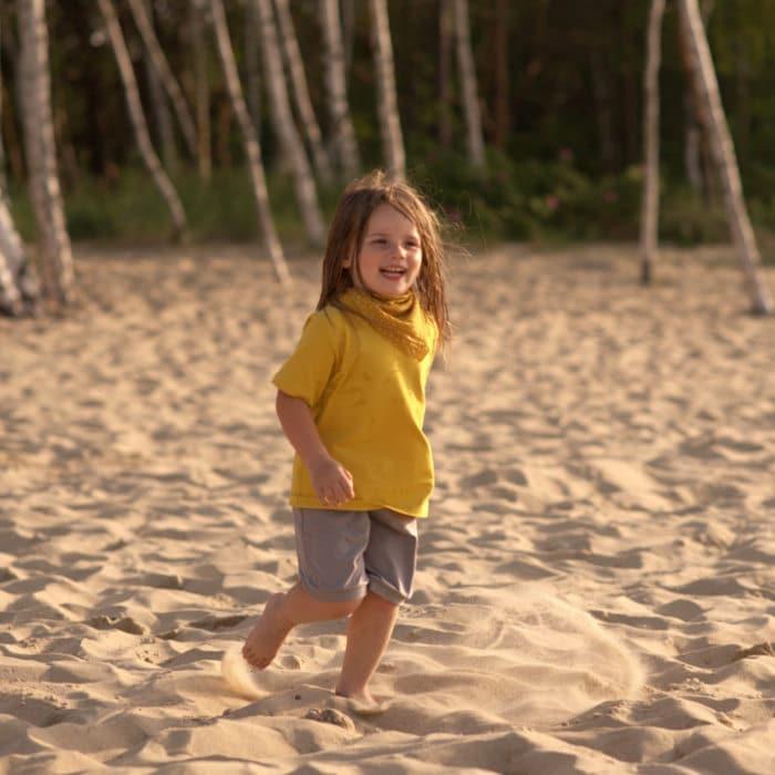 Bio T-Shirt für Kinder senfgelb