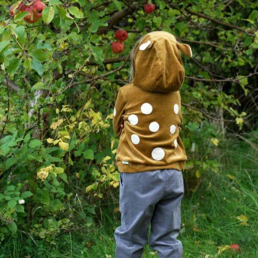 Kinder Kapuzenpullis Rehkitze senfgelb