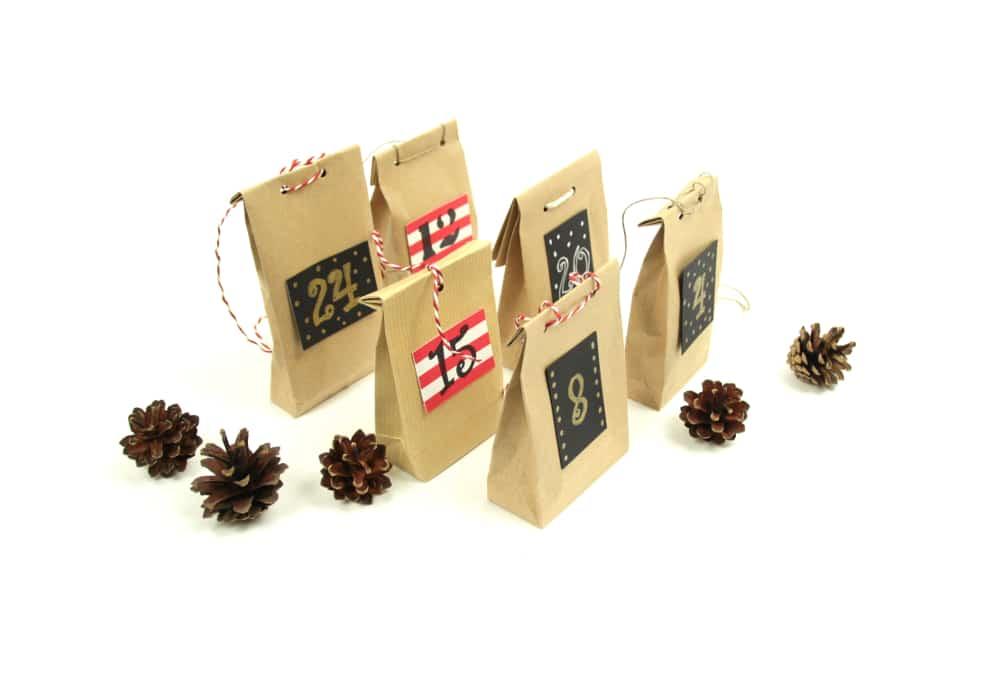 Fertige Geschenktütchen für den Adventskalender