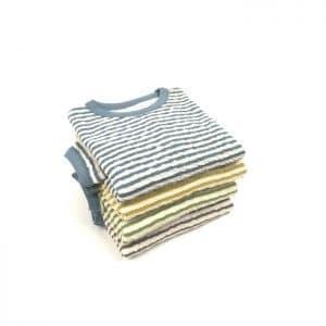 gestreifter Sweater für Kinder aus Bio Baumwolljersey