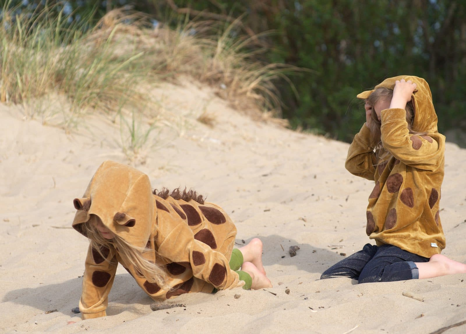 Kapuzenpullover Giraffe aus Nickivelours