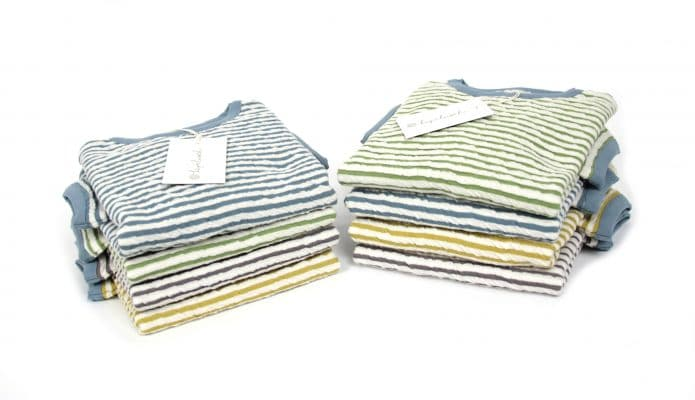 gestreifte Pullover aus Bio-Baumwolle - Cloqué-Jacquard-Jersey