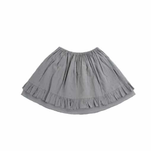 Kinderrock mit Rüsche grau aus Baumwolle