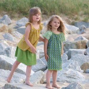 Sommerrock aus feiner Baumwolle hellgrün
