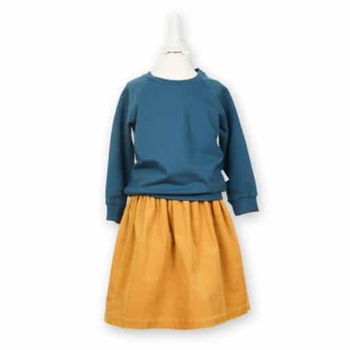 Bio Sommersweater für Kinder in petrol
